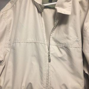 Cream in color Quicksilver men's jacket xl.